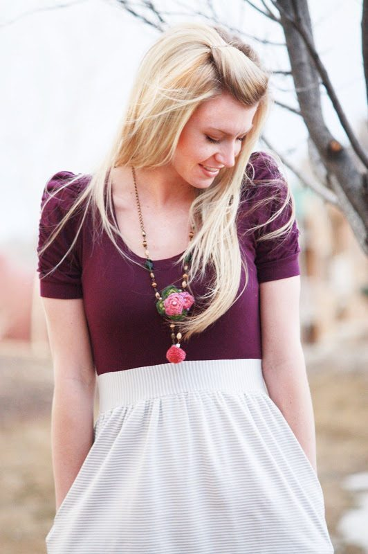 Purple Shirt dress