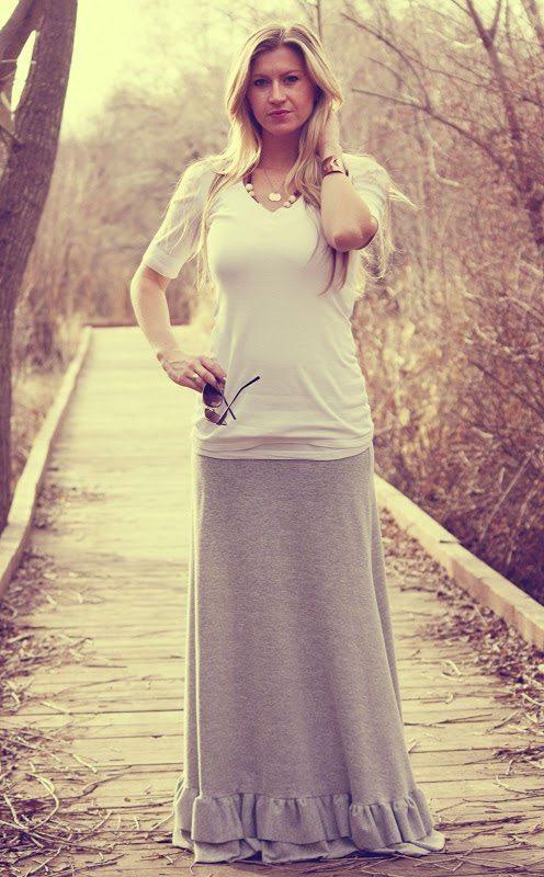 maxi skirt: dress it down
