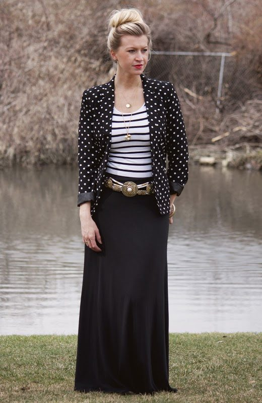 maxi skirt: dress it up