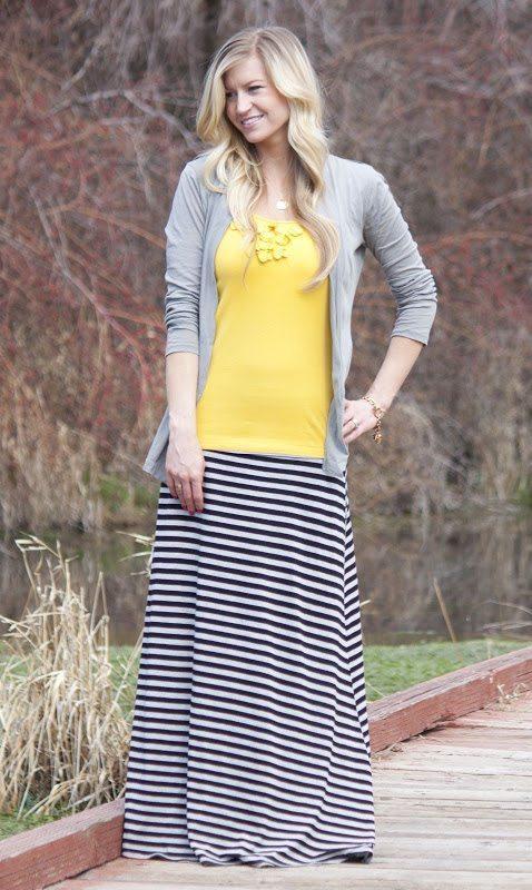 maxi skirt: color pop