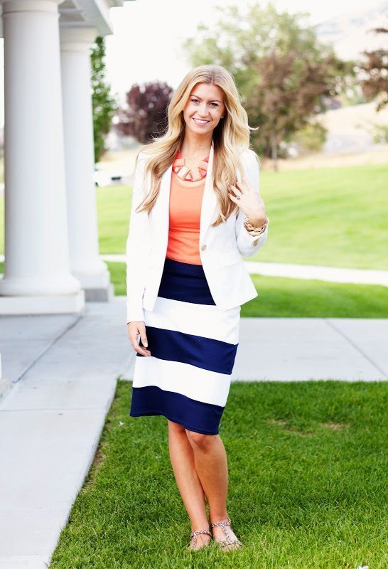 statement skirt + statement neckalce + giveaway