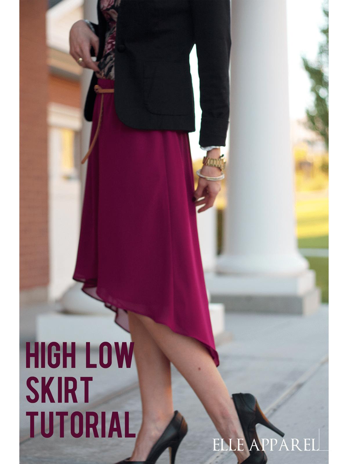 high low skirt:: tutorial