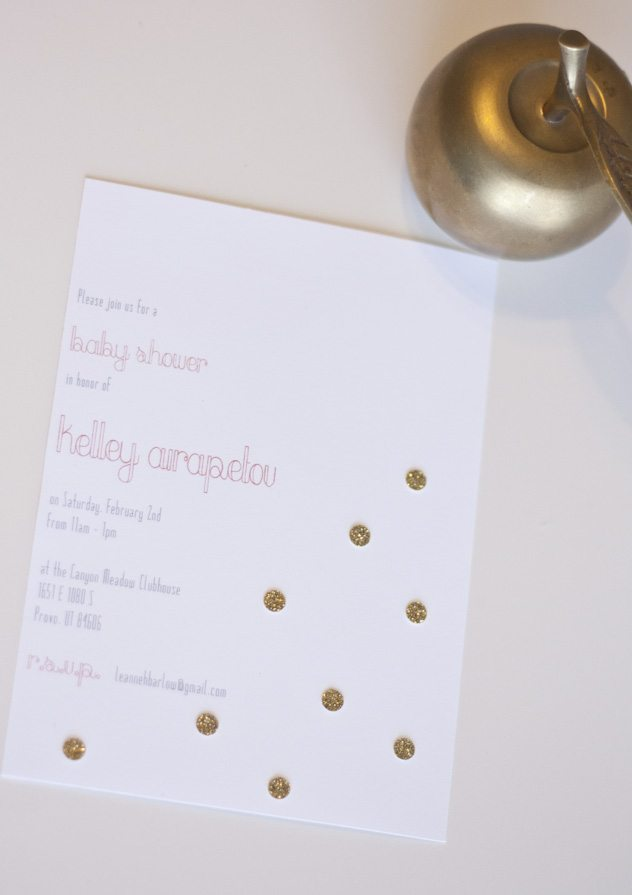 Baby Shower: Gold + Coral