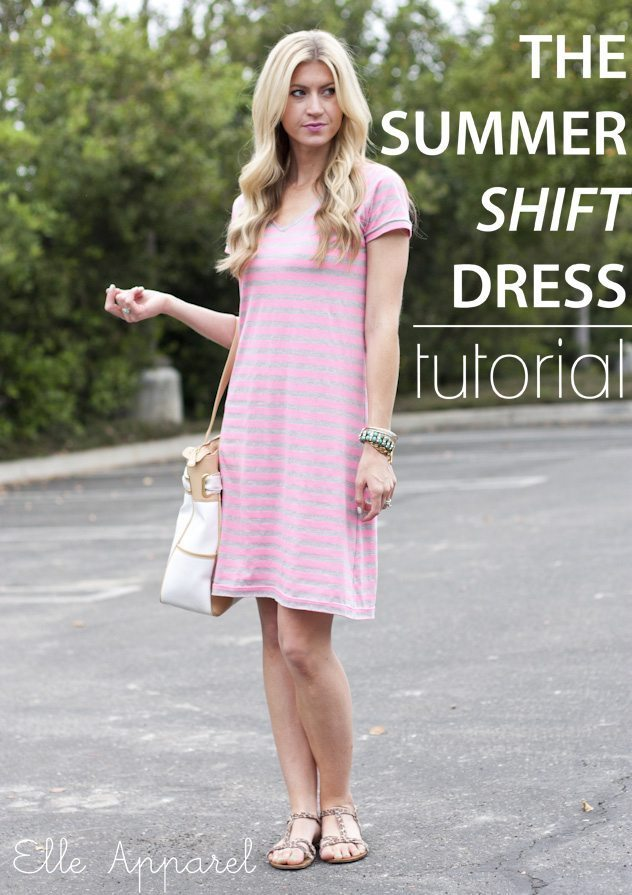Summer Shift Dress Tutorial