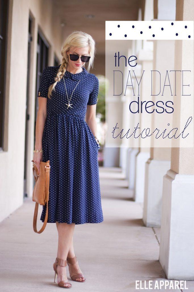 The Day Date Dress Tutorial Elle Apparel By Leanne Barlow