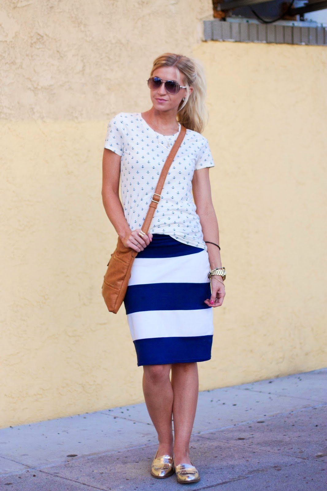 ANCHORS AWAY // STRIPED KNIT PENCIL SKIRT TUTORIAL