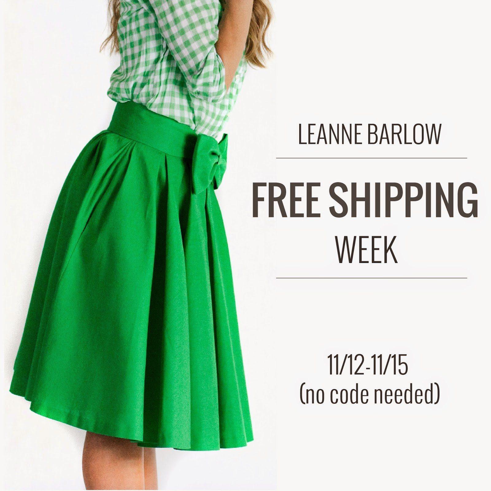LEANNEBARLOW.COM FREE SHIPPING WEEK!