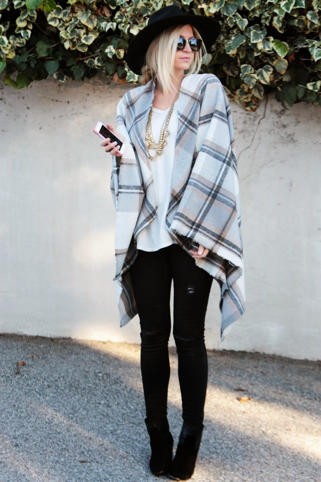 DRAPED IN PLAID + CAPE TUTORIAL