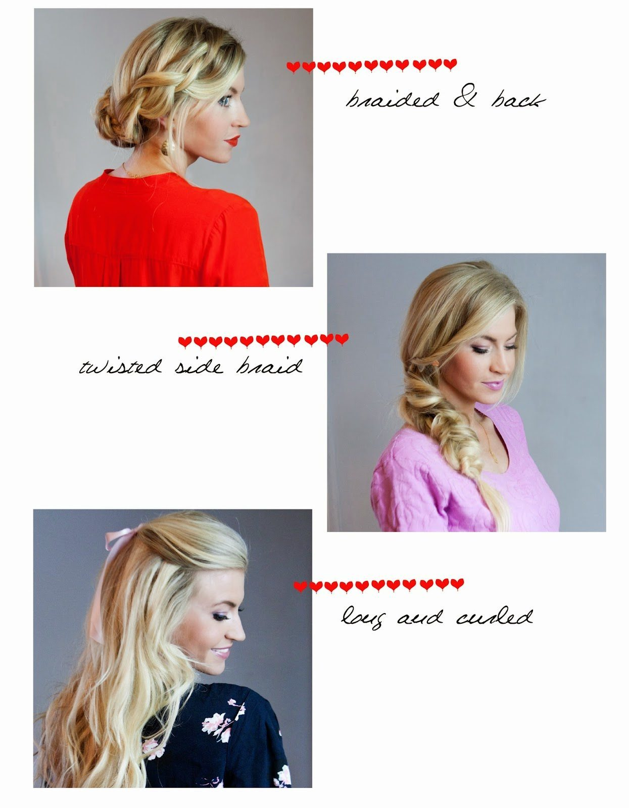 VALENTINE'S DAY HAIR: THREE WAYS