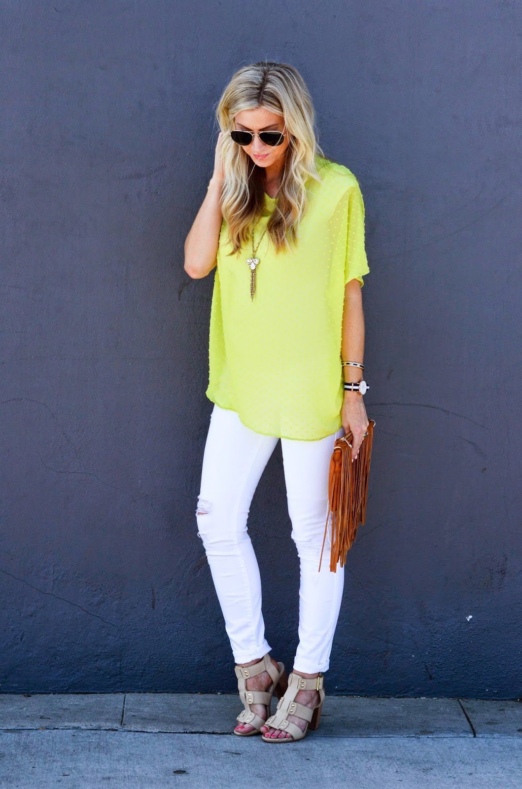 CHARTREUSE OVERSIZED DOLMAN TOP: TUTORIAL