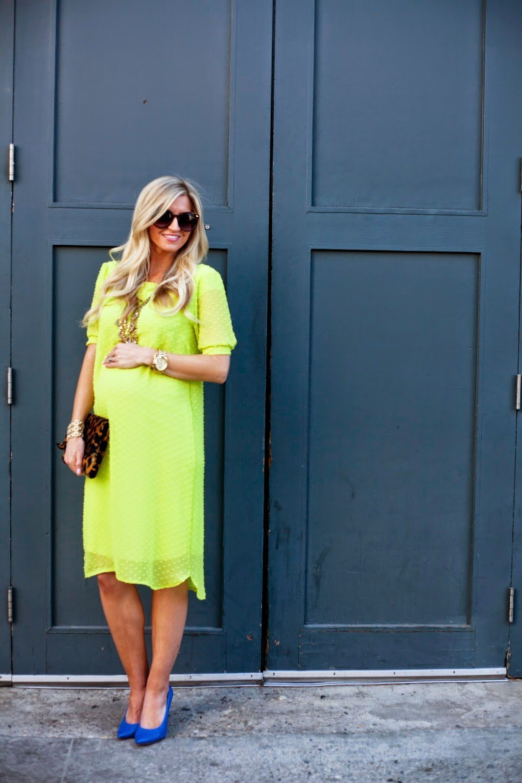 CHARTREUSE EASTER DRESS // PUFFED SLEEVE SHIFT DRESS TUTORIAL