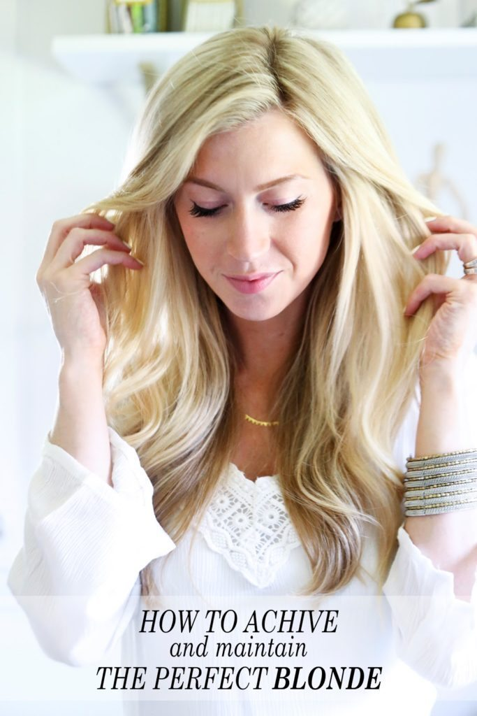 Three Tricks To Achieving And Maintaining The Perfect Blonde Elle