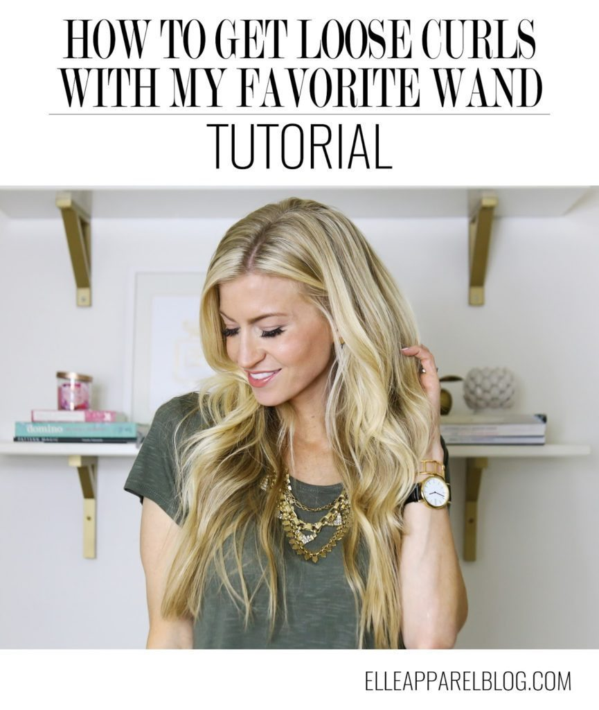 Loose curls with a curling wand tutorial elle apparel by leanne an error occurred urmus Gallery