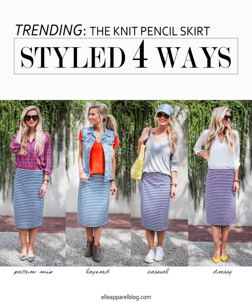 500557fedc ... Ways to Style a Knit Pencil Skirt. Last month I launched a new series  on the blog I call 'The Top Trend' (you can check out my first post here).