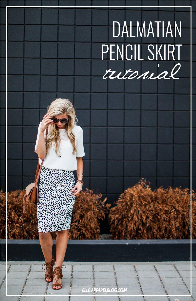 Dalmatian Pencil Skirt Tutorial