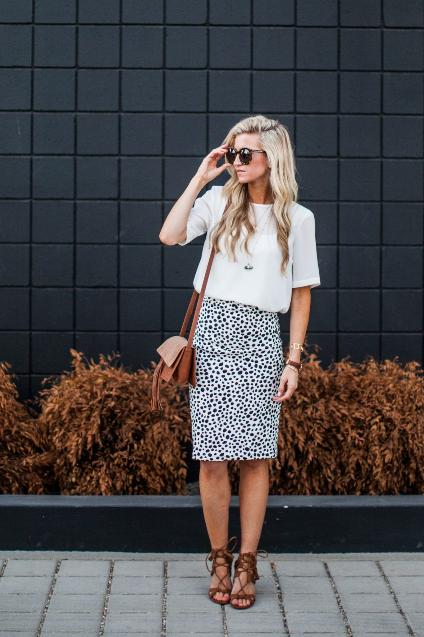 DALMATIAN PRINT PENCIL SKIRT TUTORIAL