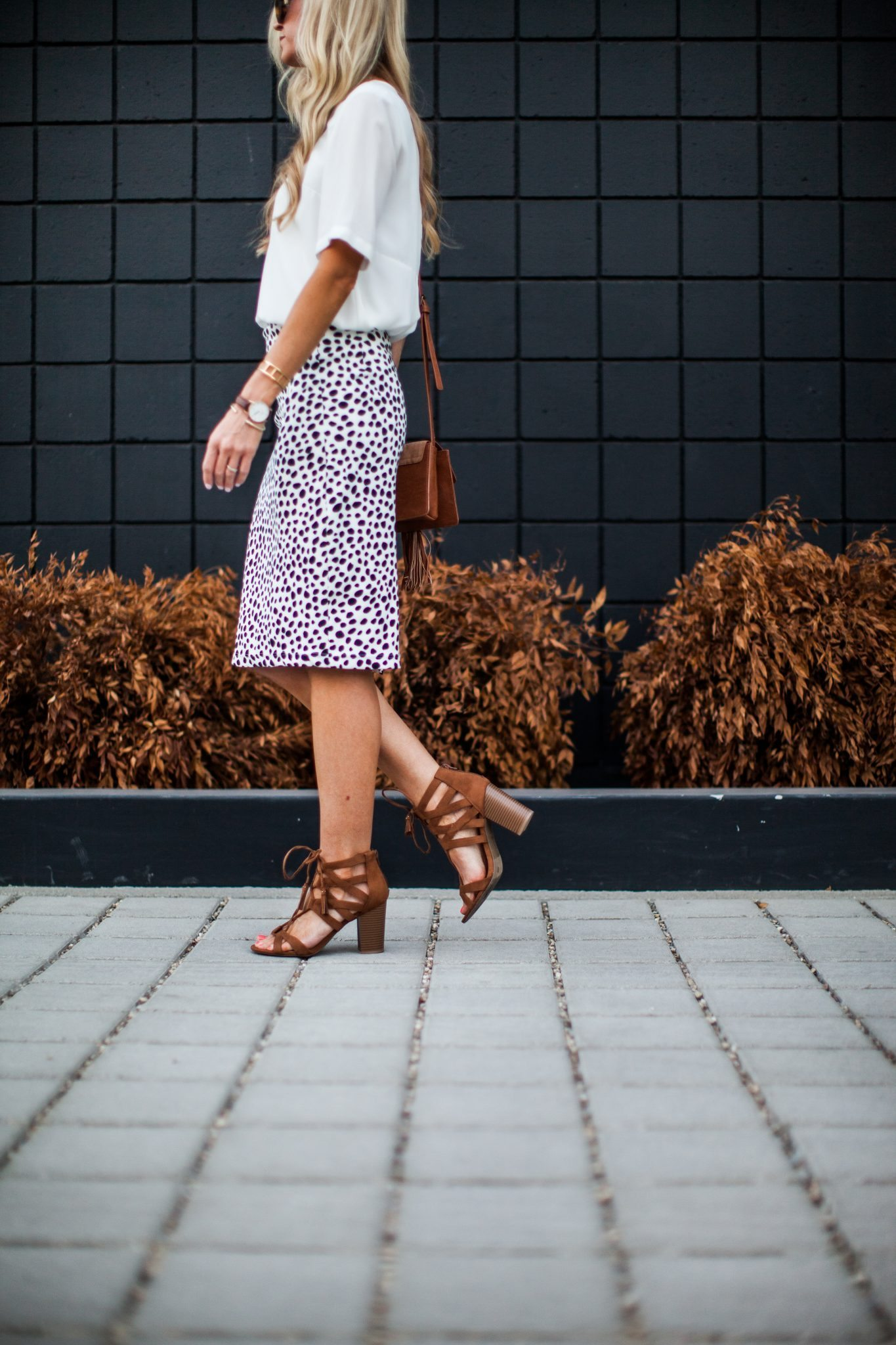 Animal dalmation print pencil skirt tutorial-0102