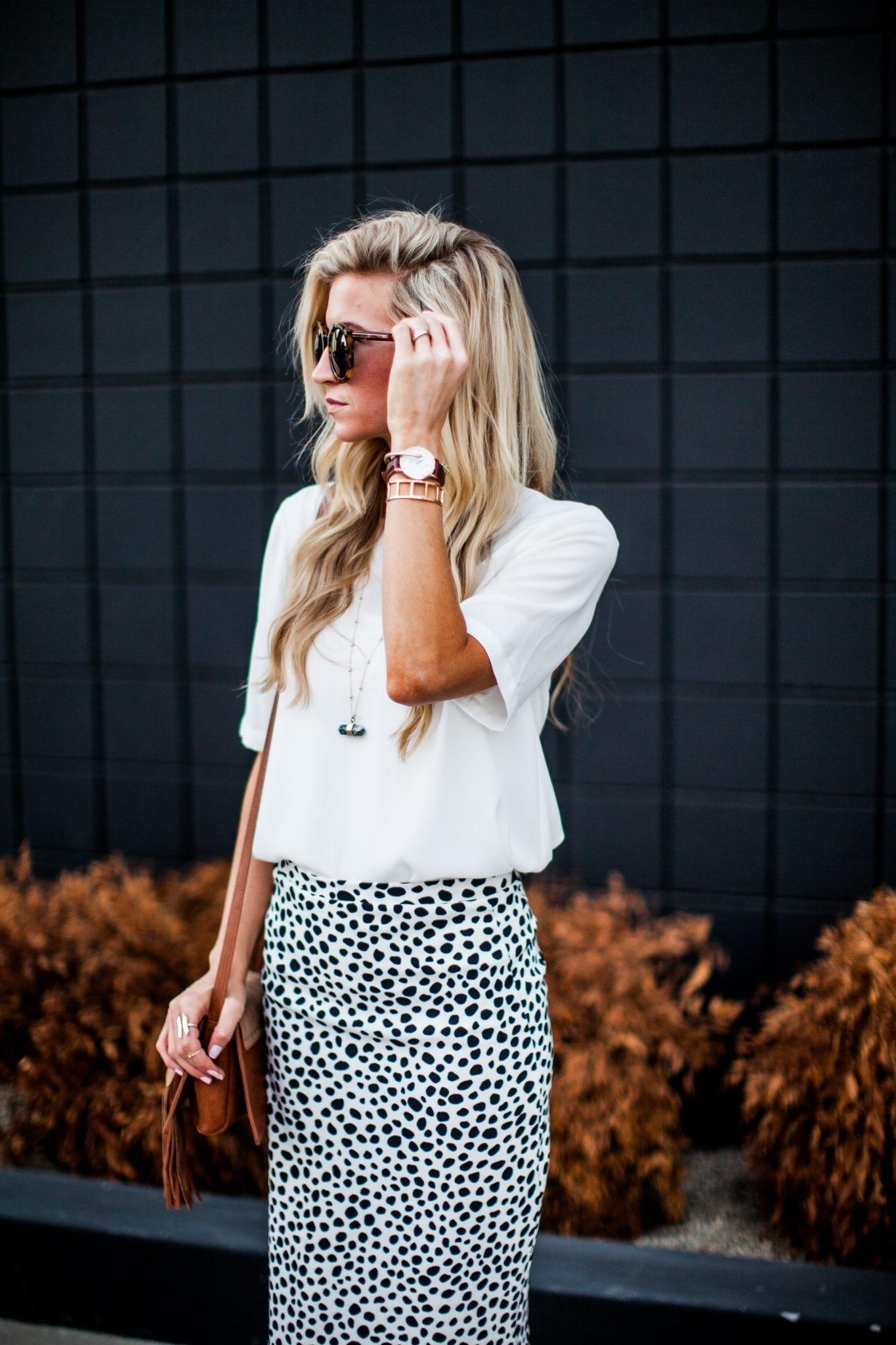 Animal dalmation print pencil skirt tutorial-0127
