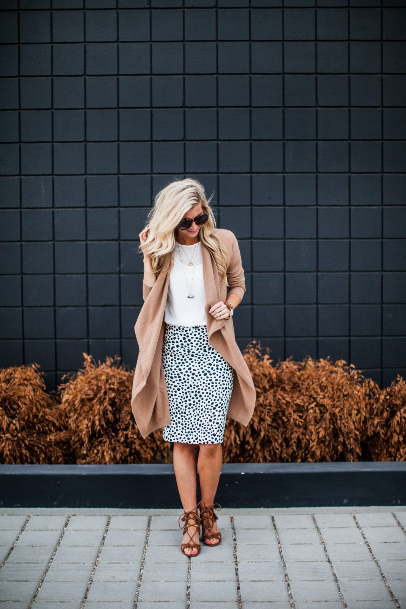 Animal dalmation print pencil skirt tutorial-0133