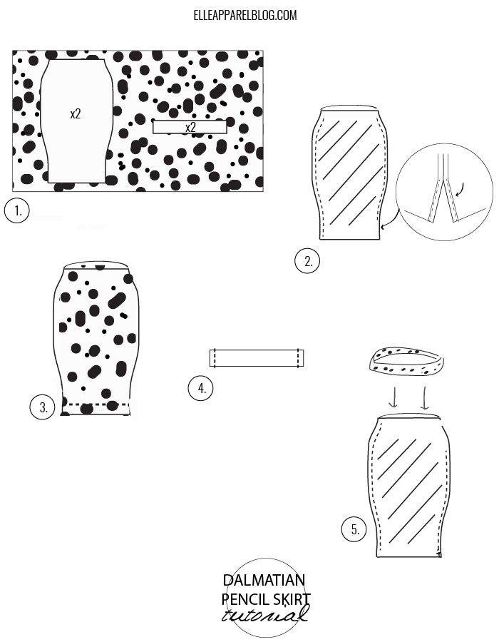 Dalmatian Pencil Skirt Tutorial