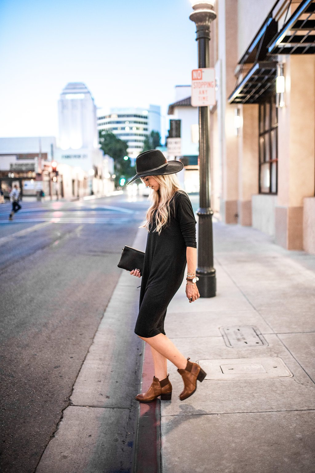 Fall cognac booties for daytime and date night.
