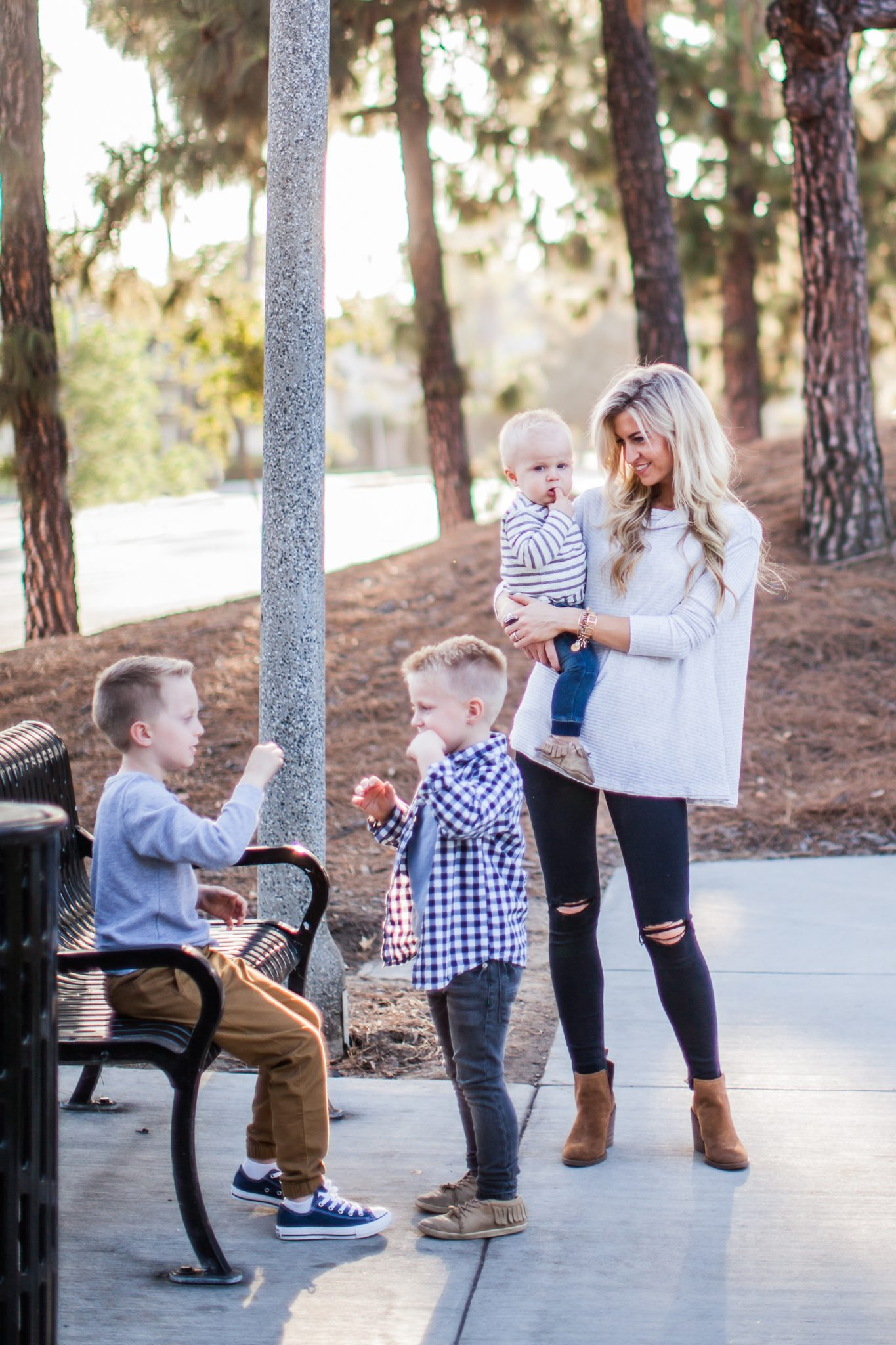 Kids Fall Clothing Color Scheme Grey Navy Mustard