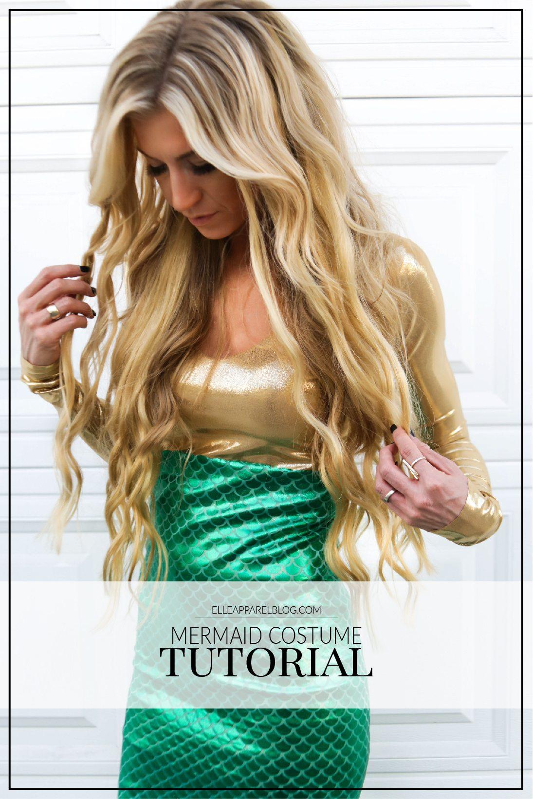 Golden mermaid costume tutorial.
