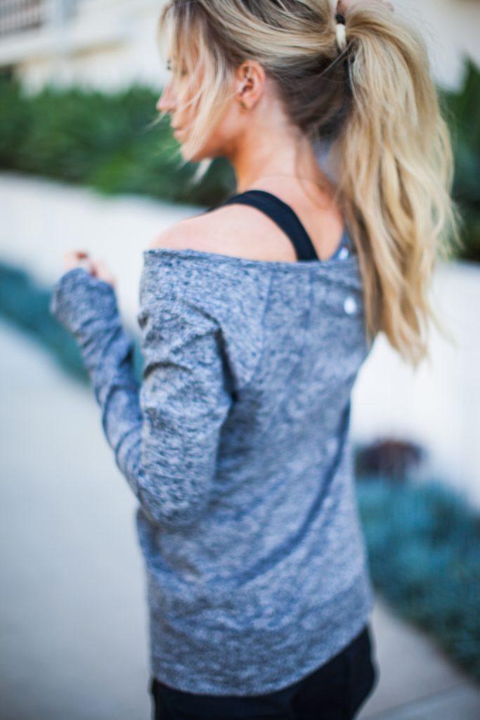 Off the shoulder activewear