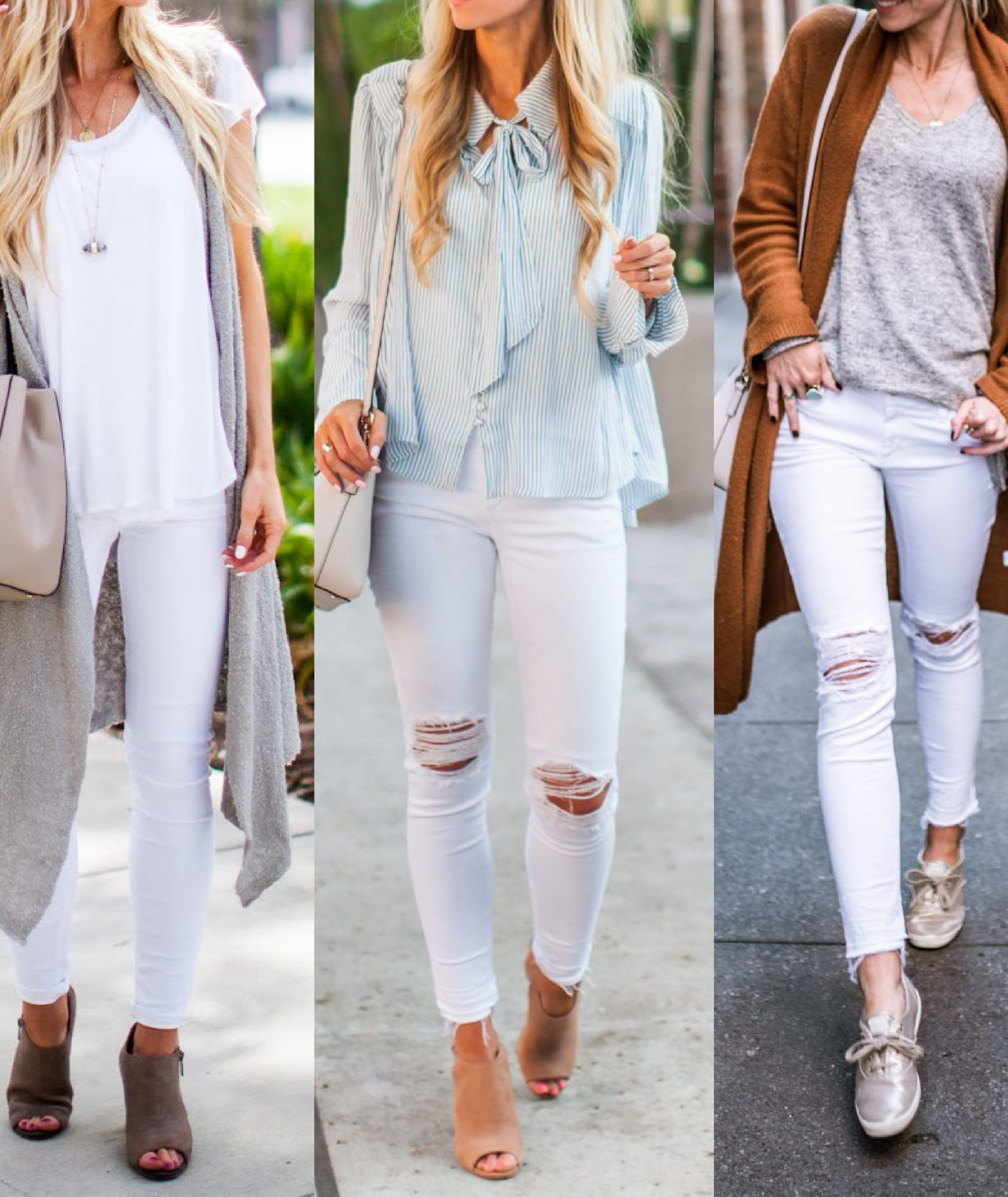 11 WAYS TO STYLE WHITE JEANS FOR SPRING