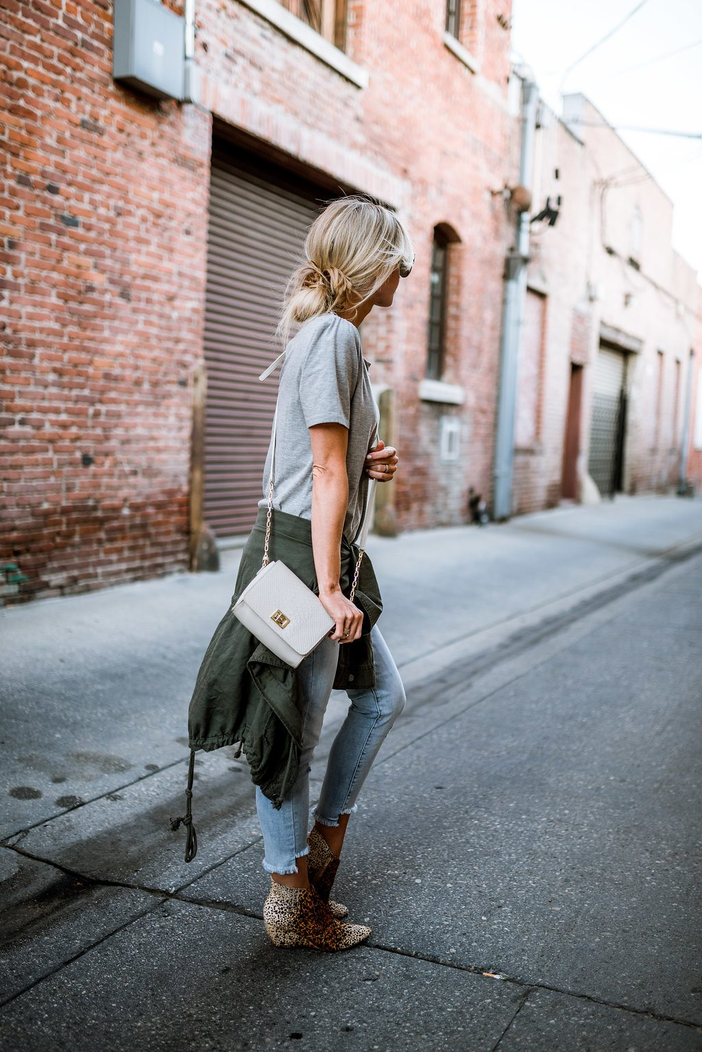 Grey + olive + leopard for fall.
