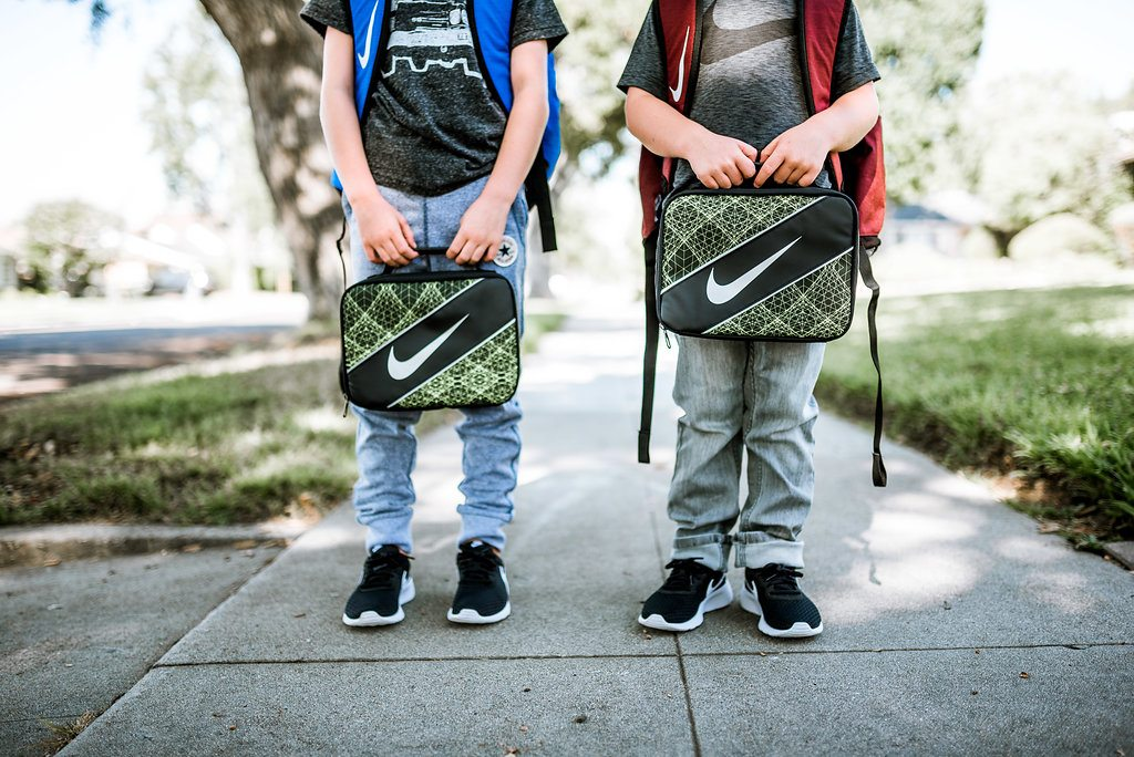 Back to school looks for mom + kids.