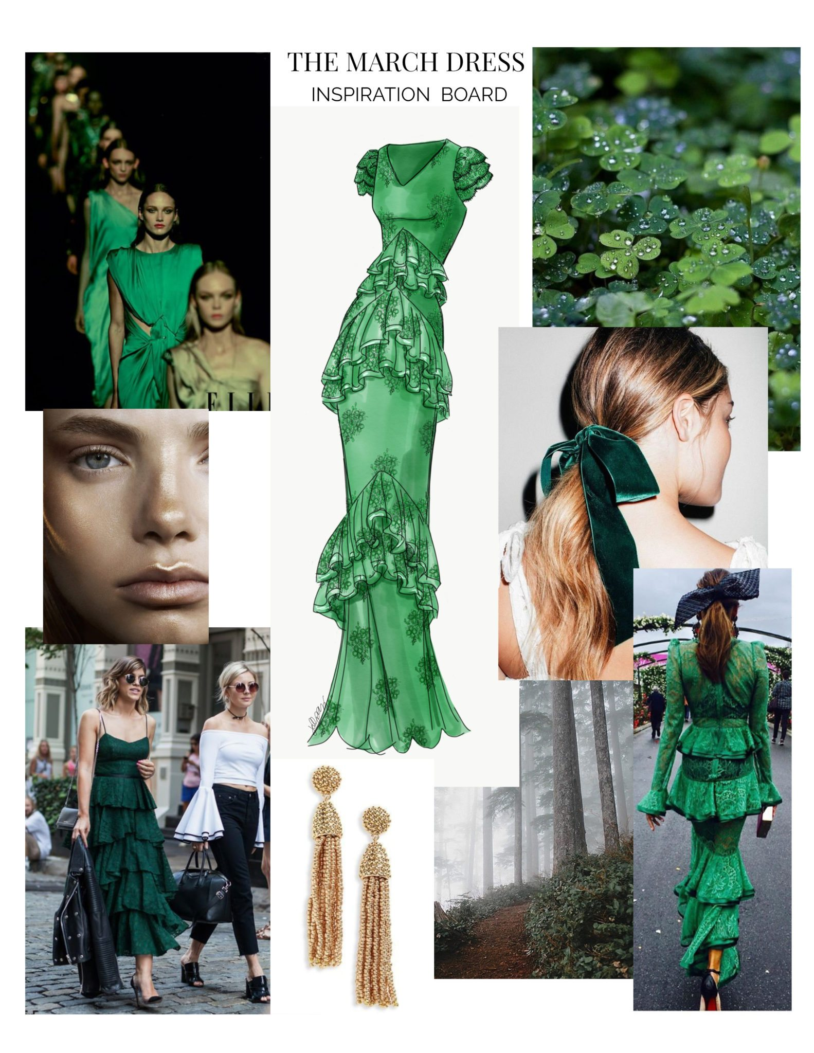 The March Dress Inspiration Board: The Monthly Dress Series