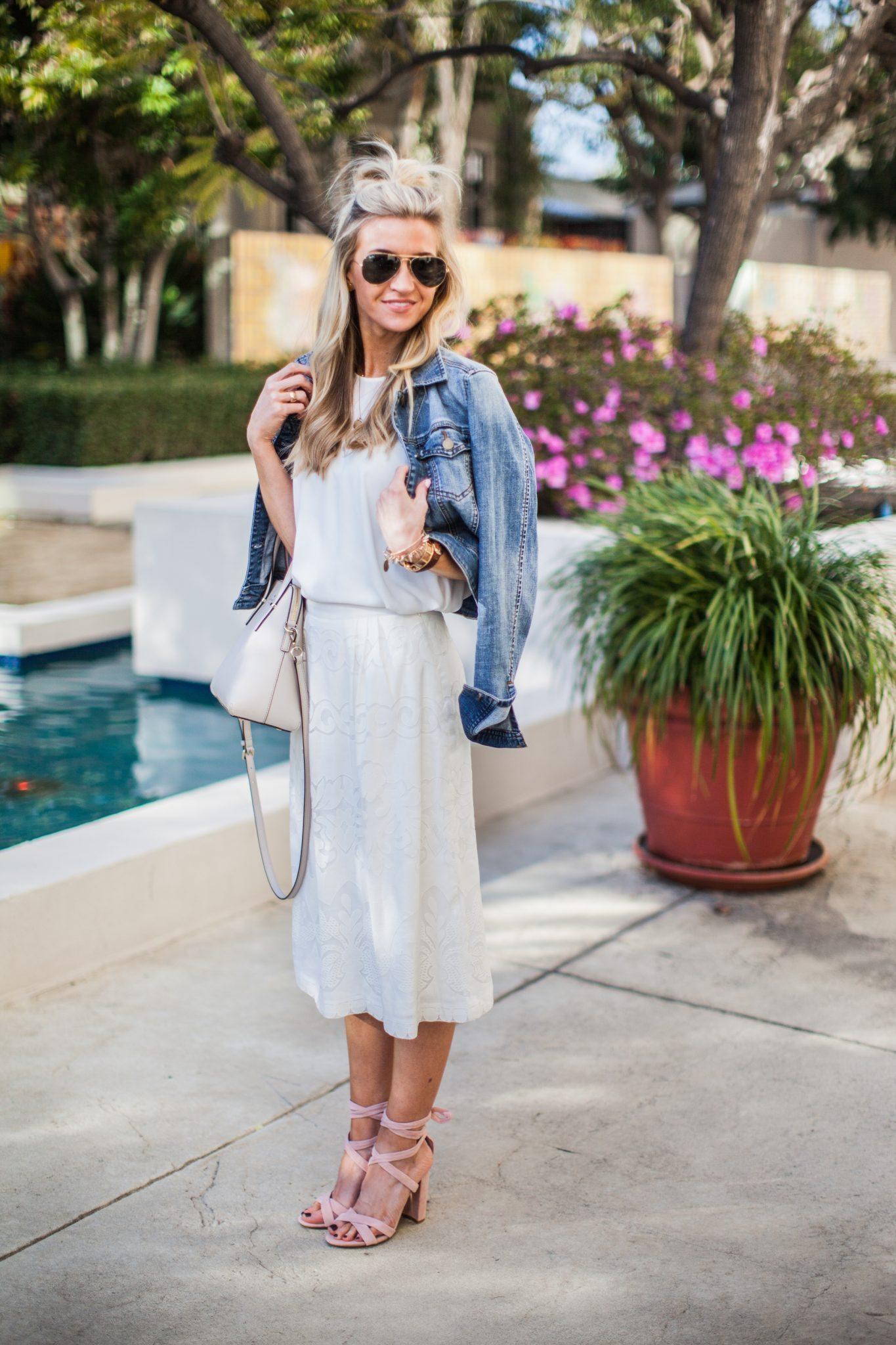 white spring skirt