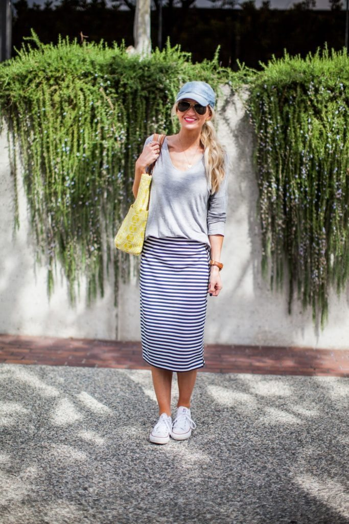 knit pencil skirt for spring
