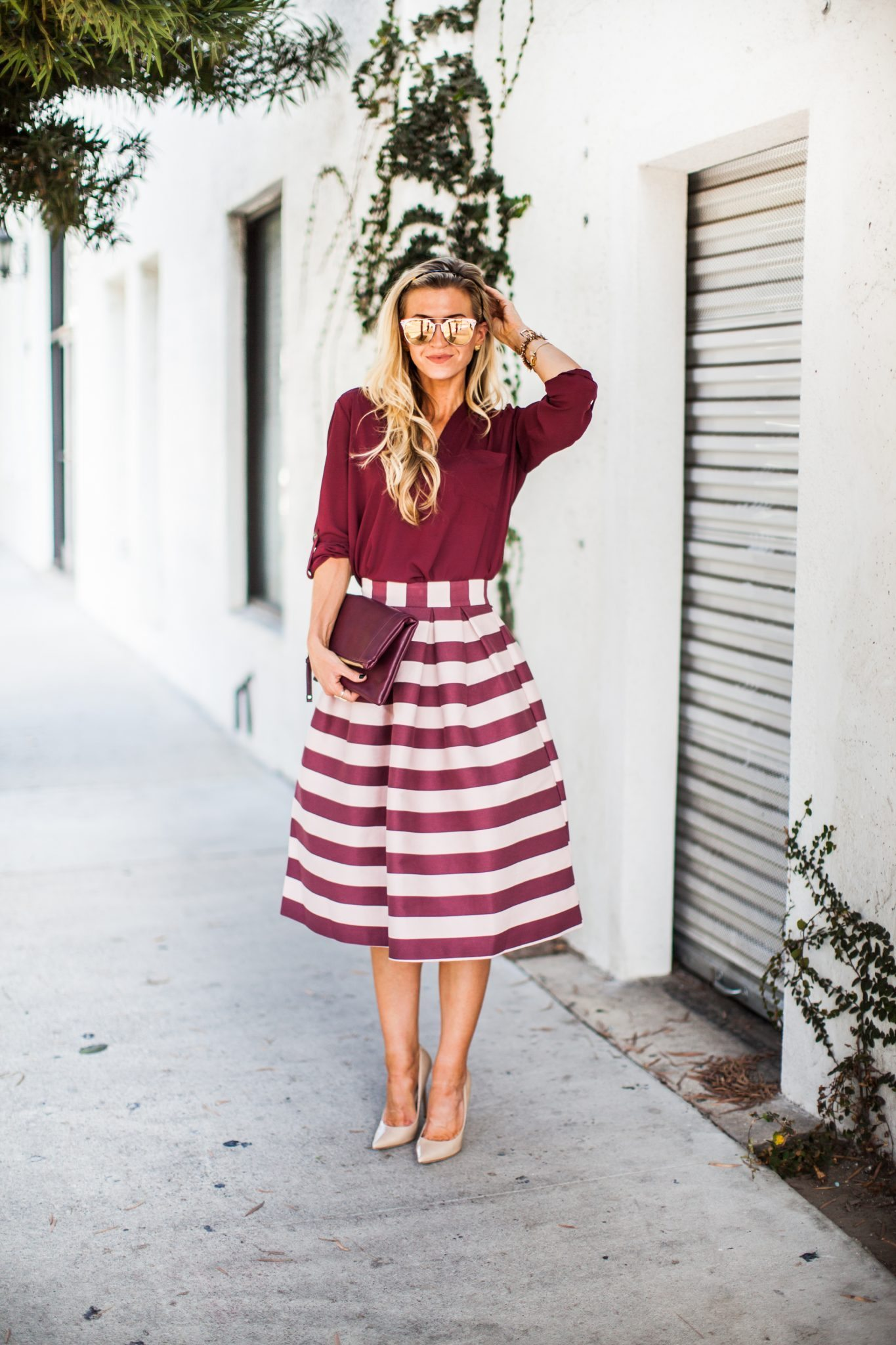 striped skirt for Spring
