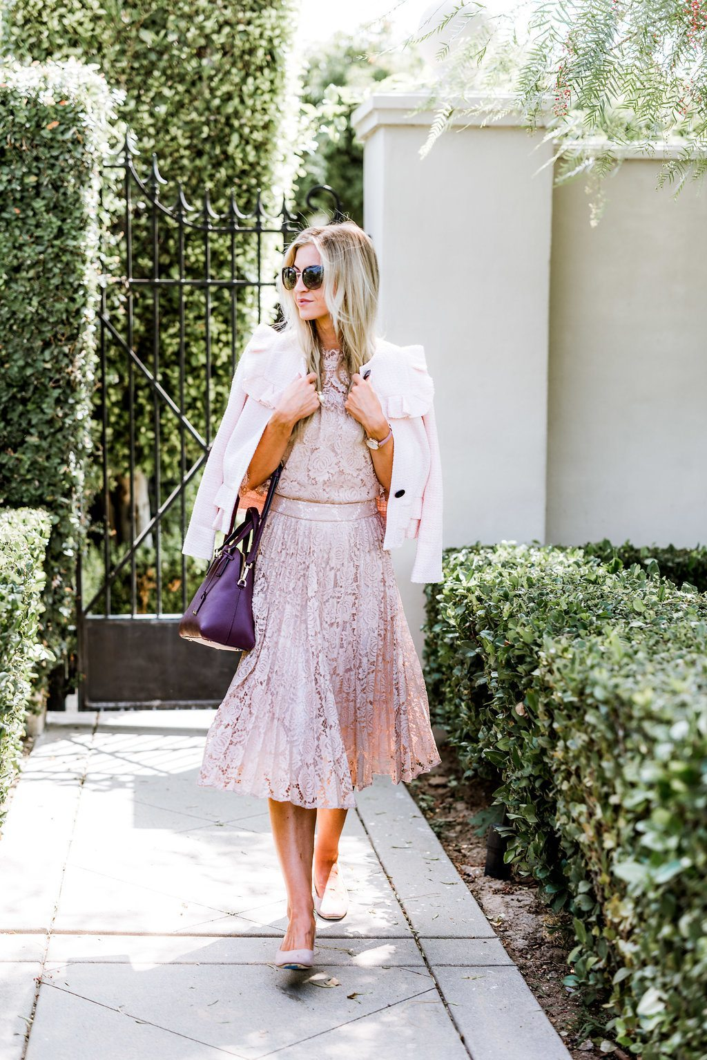 pink lace skirt for Spring
