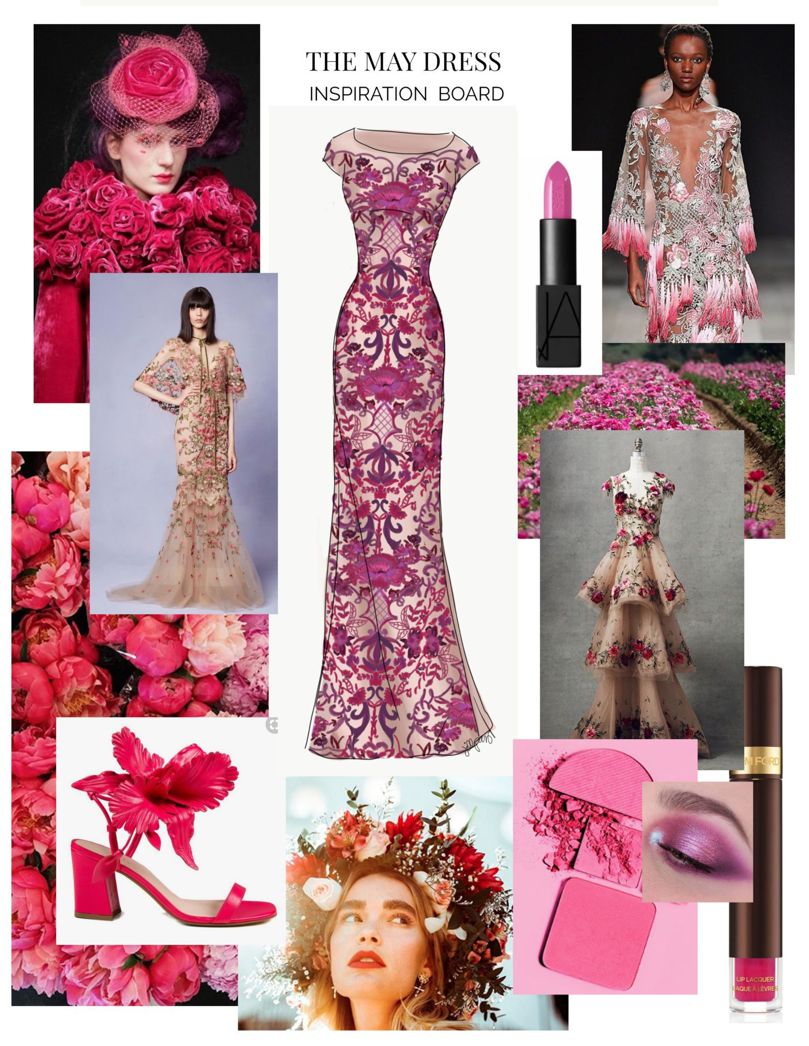 Inspiration board for The May Dress by Leanne Barlow