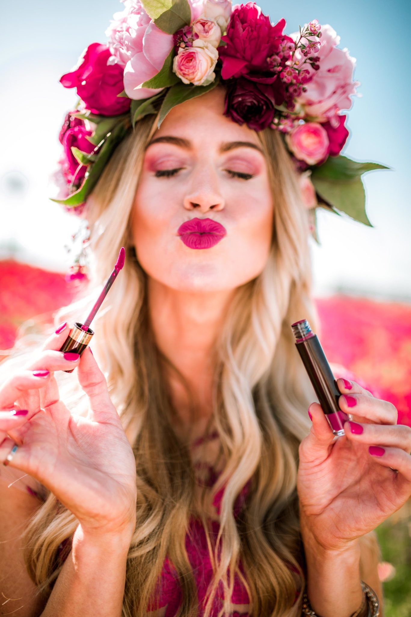 The best orchid makeup colors for spring.
