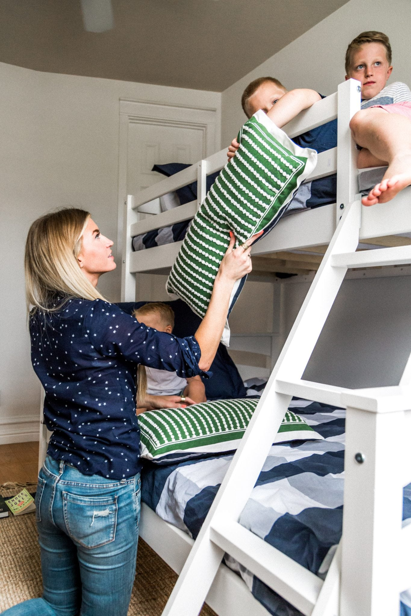 Big boys bunk bed - Dorel Living Brady Bunk Bed - Elle Apparel Blog