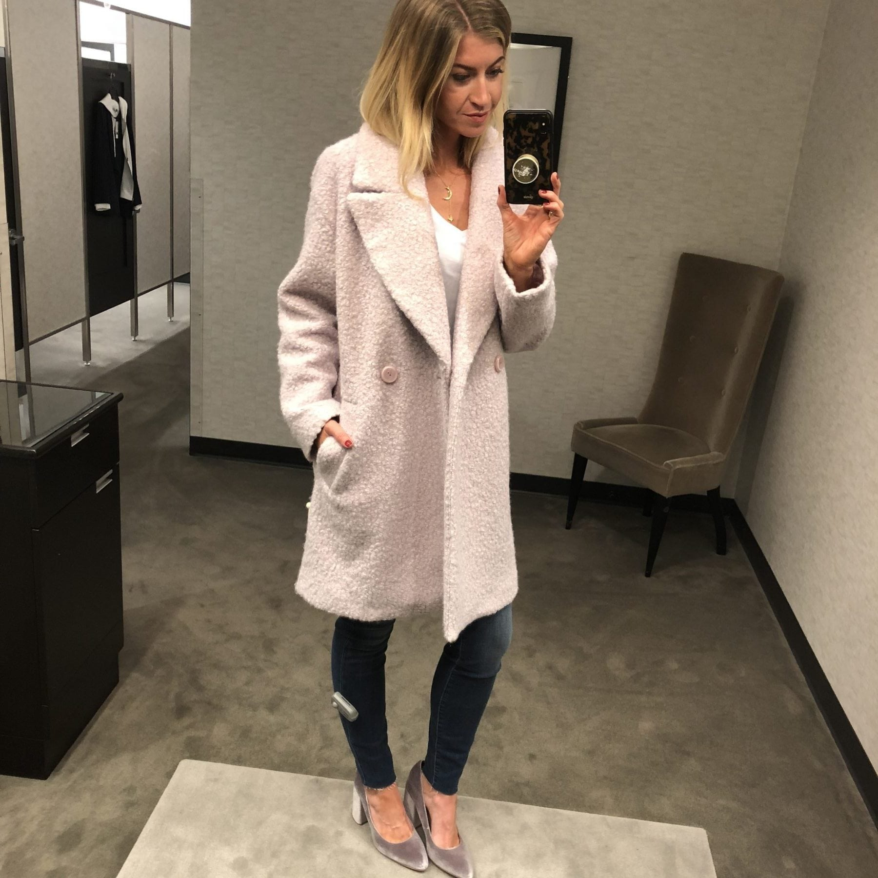 Nordstrom Anniversary Sale Outfits: Lavender Coat
