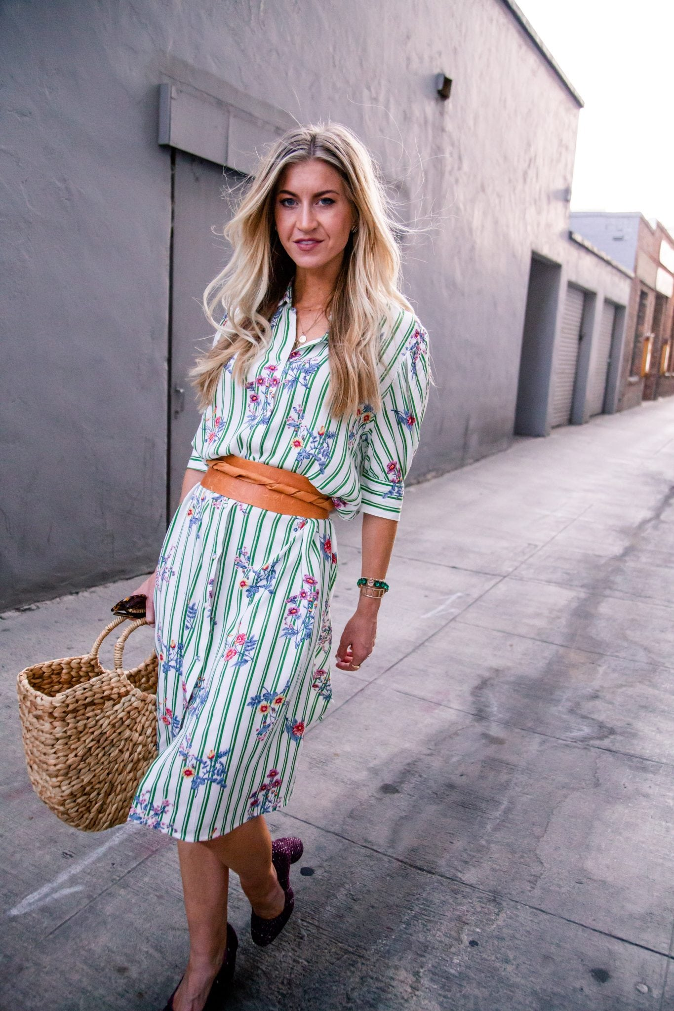 KELLY STRIPED SHIRT DRESS