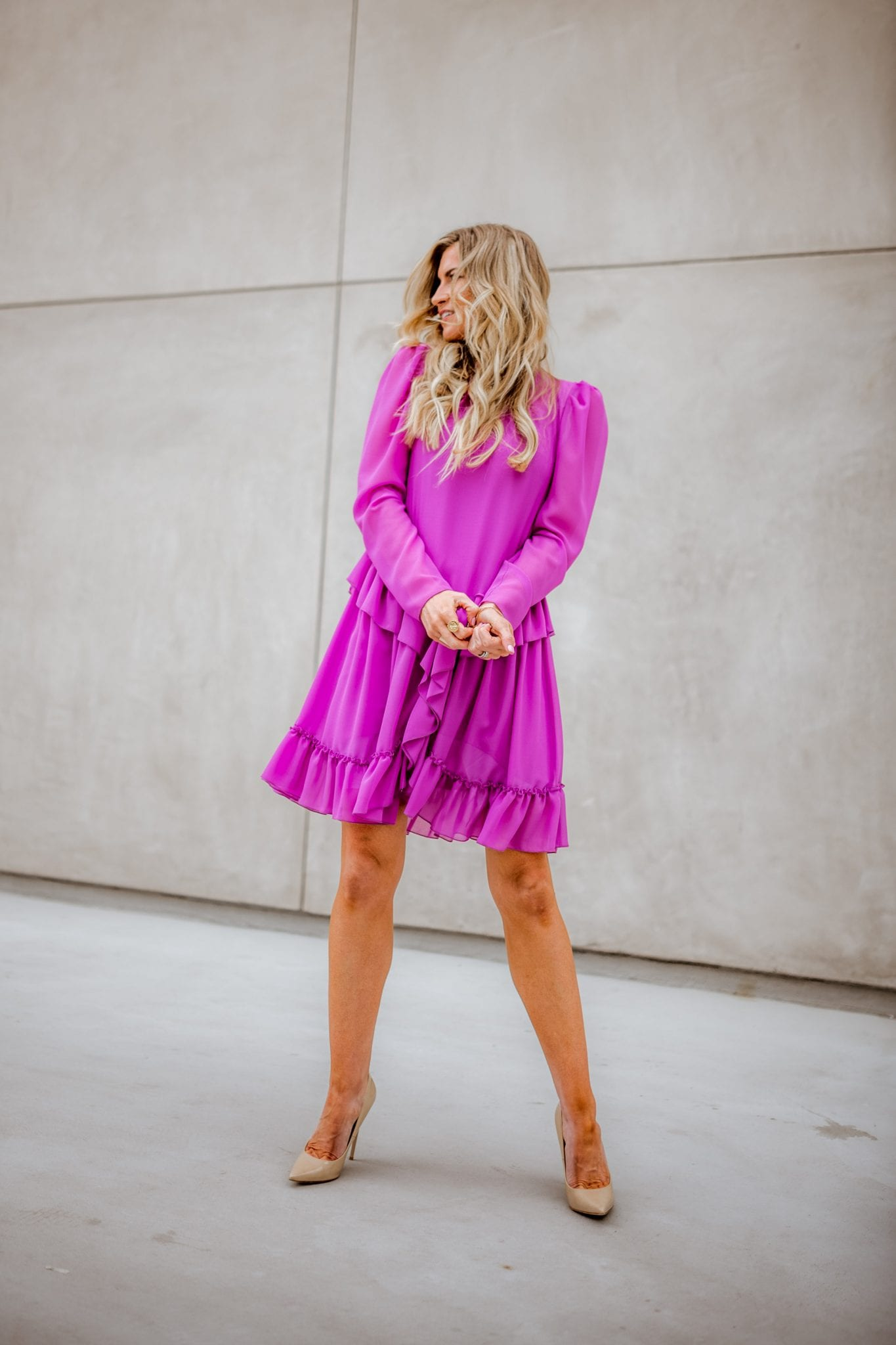 Orchid Chloe Ruffle Dress for Spring from Shopsbop