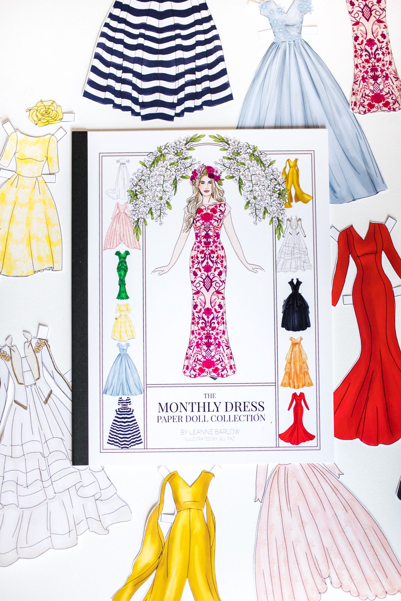The Monthly Dress Paper Dolls by Leanne Barlow