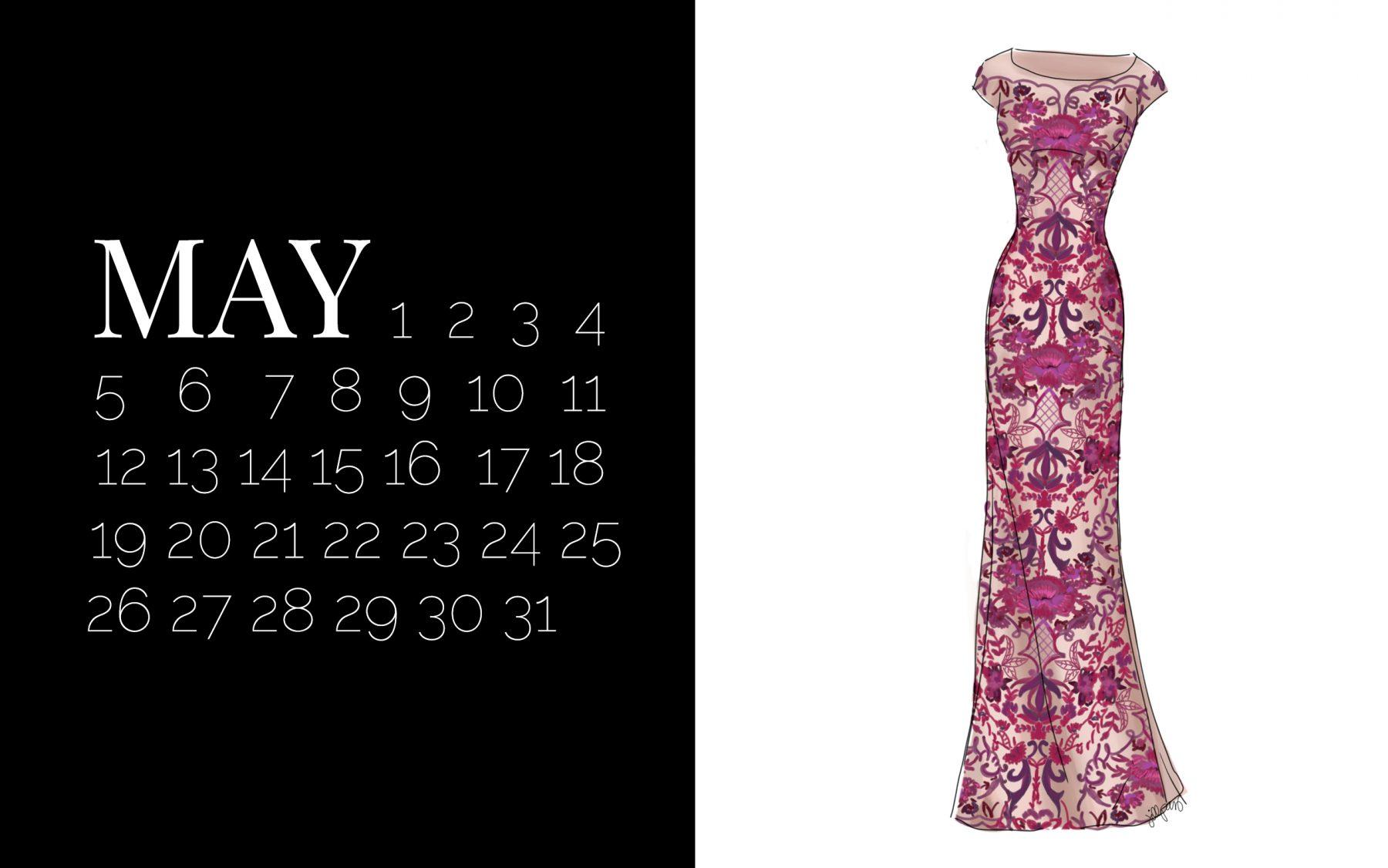 The May Dress Desktop Calendar