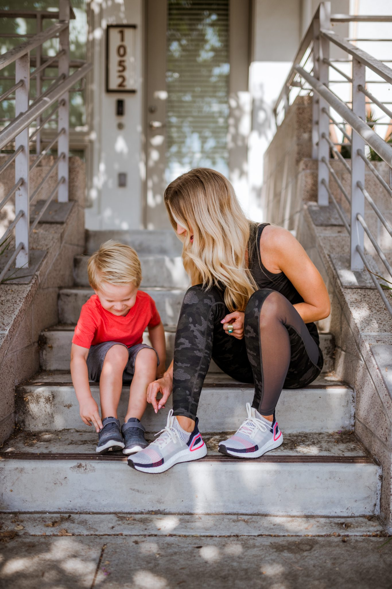 Mommy and me back to school sneakers.